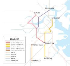 Green Line Boston Map by Brt For Boston U2014 Boston Brt