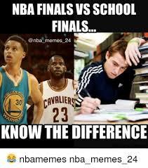 Nba Finals Meme - nba finals vs school finals memes 24 cavaliers arr know the