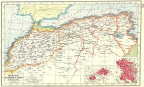 tunisia on africa map africa morocco algeria tunisia inset fes fez tunis 1920
