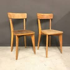 Wooden Bistro Chairs Seating Old Goods