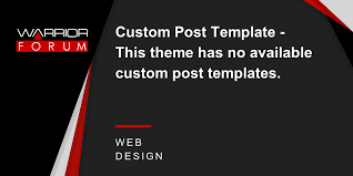 custom post template this theme has no available custom post