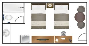 Typical Hotel Room Floor Plan Standard Double Beds Magnuson Hotel Fowlerville