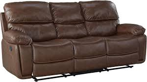 colson red brown reclining sofa from standard furniture coleman