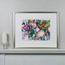 limited edition peonies fine art canvas print by susan miller fine