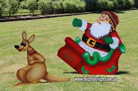 Christmas Reindeer Decorations Australia by Bright Design 1 Santa Sleigh Outdoor Christmas Displays