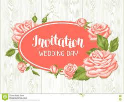 Wedding Invitation Card Template Wedding Invitation Card Template With Roses Calligraphic Text And