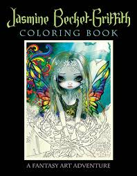 Halloween Printable Stories by Amazon Com Jasmine Becket Griffith Coloring Book A Fantasy Art