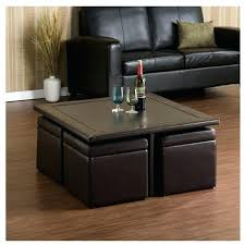 brown leather square ottoman brown square ottoman living with table inside brown leather circle