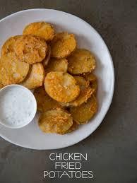 chicken fried potatoes appetizer recipe spoon fork bacon
