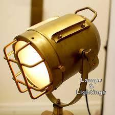 Nautical Floor Lamps Vintage Antique Nautical Figural Metal Aluminum Modern Task Lamp