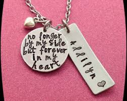 in loving memory items items similar to memorial jewelry memorial necklace in loving