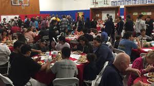 early thanksgiving dinner feeds 300 at the santa barbara boys and