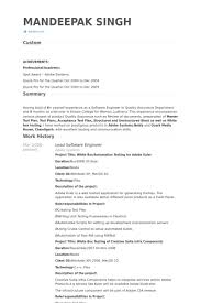 lead software engineer resume samples visualcv resume samples