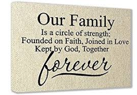 framed canvas print textured look our family is a