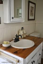 wainscotting in bathroom amys office