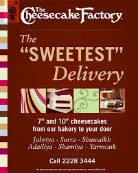 cheesecake delivery the cheesecake factory sweetest delivery alshayahelpdesk five