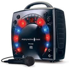 the singing machine sml283bk mini karaoke lightshow with