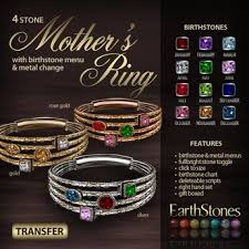 4 mothers ring second marketplace earthstones s ring 4 gift box