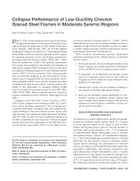 collapse performance of low ductility chevron braced steel frames