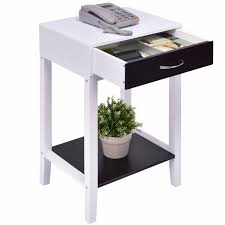 modern end tables for living room goplus side table for sofa bed living room modern coffee table white