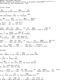 song lyrics guitar chords merry christmas darling