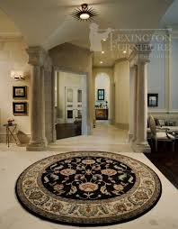 Black Round Rug Beautiful Wool Karastan Ashara Agra Black Round Oriental Rug In A