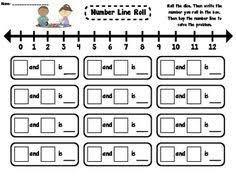 kindergarten number lines find the missing number unknown number in an addition problem