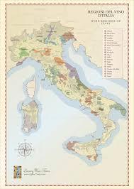 Italian Map Italian Wine Regions Map Handcrafted Illustration Cellar Tours