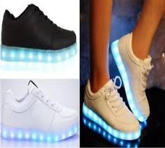 ladies light up shoes ladies womens light up led luminous lace up trainers celeb sneakers