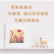 woodland wall stickers wall decals tinyme scrabble letters scrabble letters 30 wall sticker photo frames set