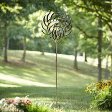 garden oasis 84 solar wind spinner outdoor living outdoor