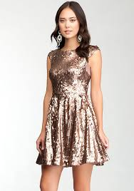 low back fit u0026 flare sequin dress bebe