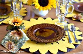 how to set a table with napkin rings how to make sunflower napkin rings stunning and cheap an