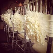 paper chair covers so pretty flower chair covers i m going to use this idea for