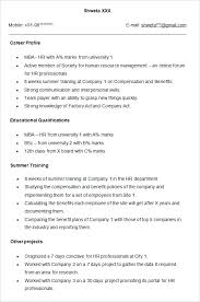 mba hr resume format for freshers pdf reader resume format freshers