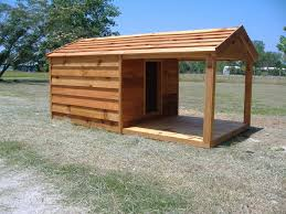 Outdoor Kennel Ideas by Custom Heated Dog Houses Custom Cedar Dog House With Porch