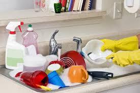 Washing Dirty Dishes In Kitchen Sink  Stock Photo  Whitestar - Dirty kitchen sink