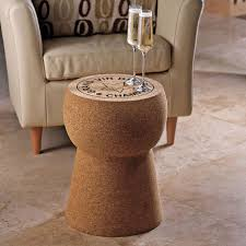 giant champagne cork stool table