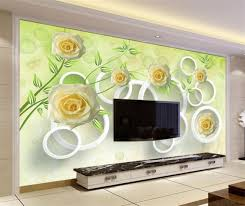 wallpaper bunga lingkaran 3d foto wallpaper kustom ruang mural naik bunga lingkaran 3d lukisan