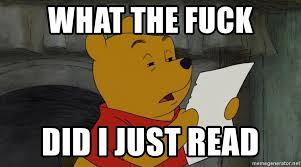 What The Fuck Did I Just Read Meme - what the fuck did i just read reading winnie the pooh meme