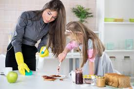 Cleaning Table Stock Images Royalty by Mess With Jam In The Kitchen Stock Images Image 37881164