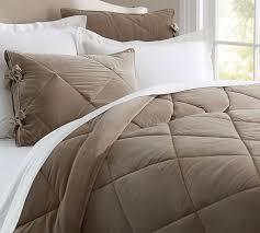 neutral colored bedding velvet comforter sham ruby pottery barn