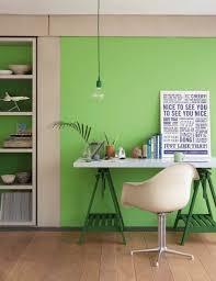 bureau vert idee decoration bureau vert lime green interior