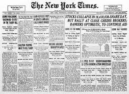 the new york times gt annotated bibliography black tuesday the start of the great