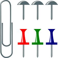 punaise de bureau bureau binder punaise à papier images vectorielles gratuites sur