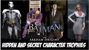 batman arkham city halloween costumes batman arkham city origins hidden and unused character trophies