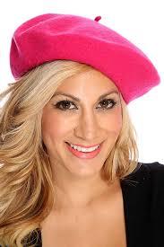 barret hat fuchsia wool classic beret hat hats caps womens hats