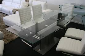 glass extension table modern dining tables simpson extension
