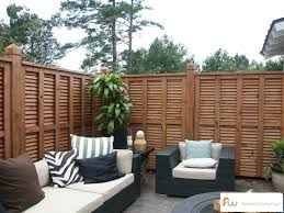 Privacy Walls For Patios by Another Angle Of A Beautiful Custom Wood Privacy Fence Design From