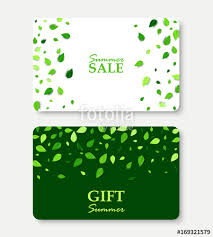 green gift voucher vector illustration summer sale and gift summer card layout templates shopping gift